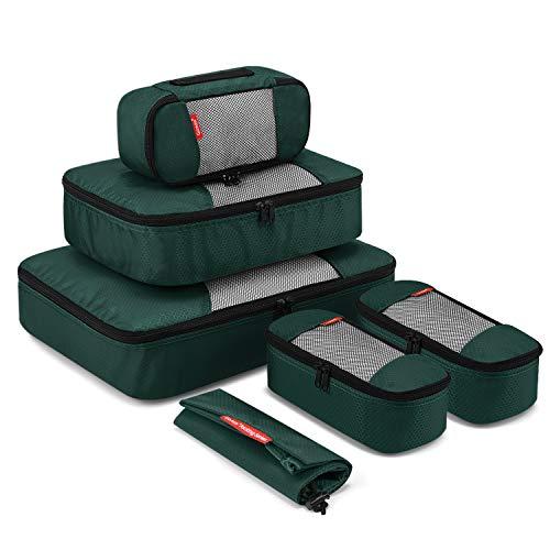 Packing Cube 6-teilig, Gonex Kleidertaschen-Set, 1 Wäschebeutel, 1 mittelgroße, große und 3 kleinste Kleidertasche