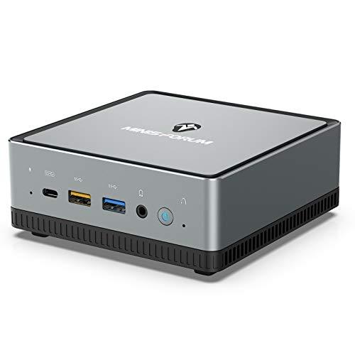 Mini PC AMD Ryzen 7 Pro 2700U | 16 GB RAM 512 GB SATA SSD | Gráficos Radeon Vega 10 | Windows 10 Pro | Intel WiFi 5 BT 5.1 | HDMI 2.0 / Pantalla/USB-C | 2X RJ45 | 4X USB
