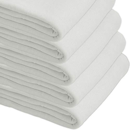 Nurtextil24 Sofaüberwurf Elastisch Baumwolle Bettüberwurf (viele Variante verfügbar) Couch Überwurf Weiß 240 x 250 cm