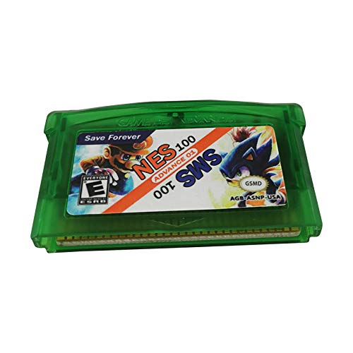 Multicart Game Cartridge for GBA Console - 100 NES in 1 and 100 SMS in 1 GBA Retro Classics USA Version