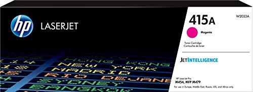 HP 415A W2033A Cartuccia Toner Originale da 2.100 Pagine, per Stampanti HP Color LaserJet Serie Pro M454 e M479, JetIntelligence, Magenta