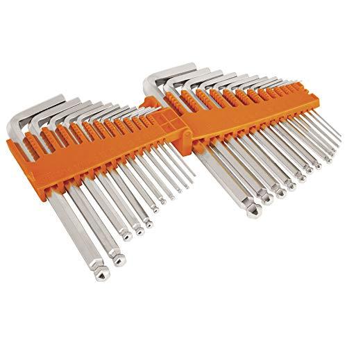 Truper ALL-25, Juego de 25 llaves Allen standard y milimétricas c/estuche