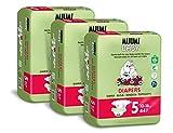 Pañales ecológicos Muumi Baby, talla 5, 10-16 KG, 132 pañales sensibilidad...