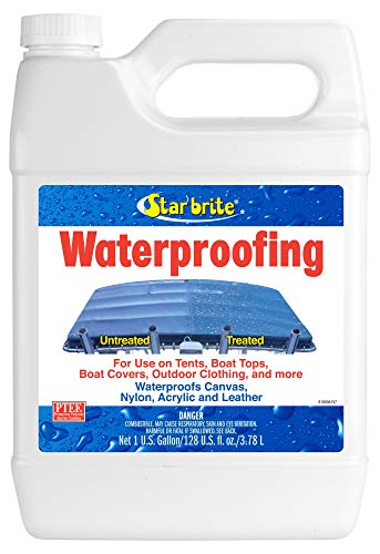Star Brite Waterproofing Spray, Waterproofer + Stain Repellent + UV Protection, 128 oz