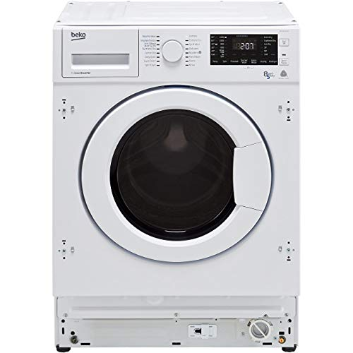 Beko WDIY854310F 1400rpm Spin Speed 8kg Wash 5kg Dry Integrated Washer Dryer - White