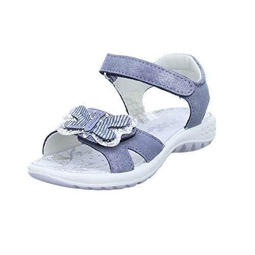Imac Kinder Sandale 530961/01207/02 Sommersandale Klettverschluss blau Silber (Navy Silver) Größe 31 EU