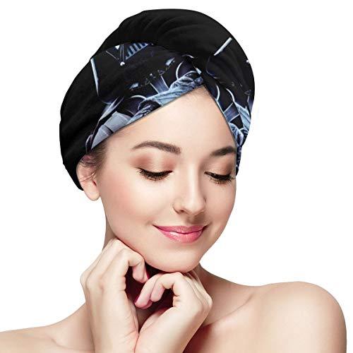 Star Wars Damen Mädchen Haar-Handtuch, super saugfähig, weich, schnell trocknend, Anti-Frizz Duschkopf