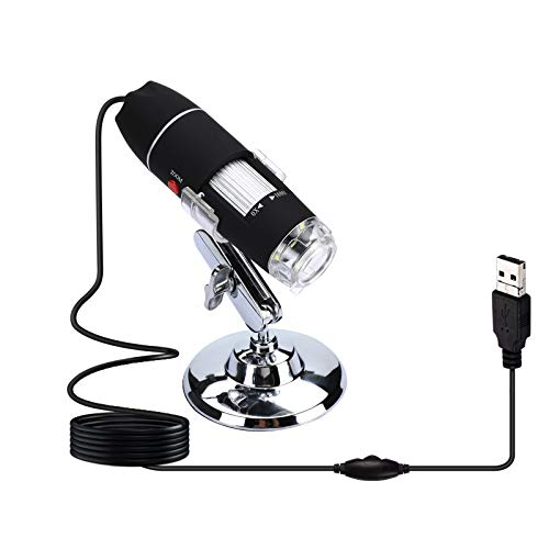 0X to1600X Digital Microscope 8LED Light USB Endoscope Camera Magnifier Zoom with Stand