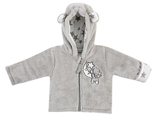 Jacky Unisex Kapuzenjacke mit Umschlaghandschuh für Babys und Kleinkinder, Elefanten-Motiv, Größe: 56, Alter: 1-2 Monate, Grau, 292776