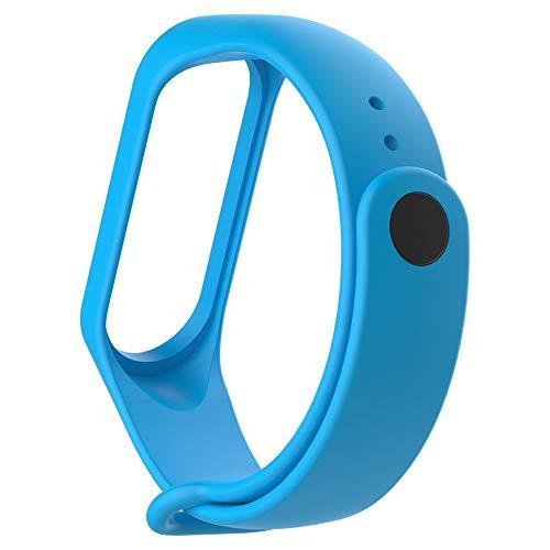 Greatangle-UK Muñequera Suave Correa de muñeca Segura más rápida para Xiaomi Band 3 Reemplazo Azul