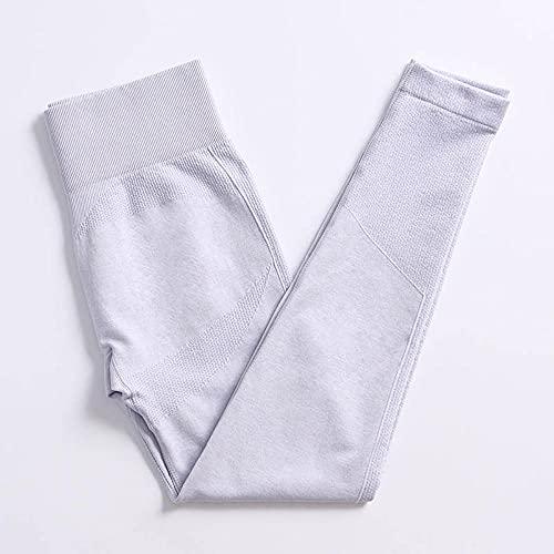 qqff Levantamiento Glúteos Yoga Pantalones Running,Women's Yoga wearports Fitness Wear,Body Wear-Gray Pants,Leggings Sexis Anticelulíticos
