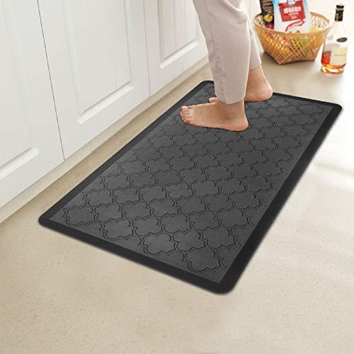 HEBE Kitchen Mat Cushioned Anti Fatigue Floor Mat Waterproof Non Skid Kitchen Rug Ergonomic Floor Pad Comfort Standing Mat for Office,Sink,Laundry,20'x30',Black