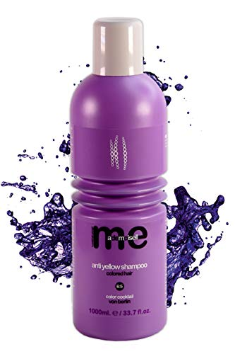 MeMademoiselle Anti Yellow Shampoo para cabello rubio contra el amarillamiento I No Yellow Shampoo I Made in Germany (1000 ml)