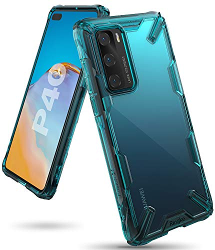 Ringke Fusion X Case Designed for Huawei P40 - Turquoise Green