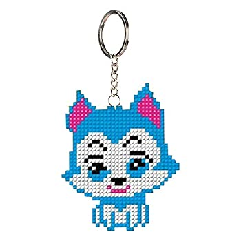 DIY Keychain Cross Stitch Kits Christmas Gifts Full Beaded Embroidery Key Ring Handcraft Stamped Needlework Key Chain Art Embroidery Starter Kits for Backpack Pendant