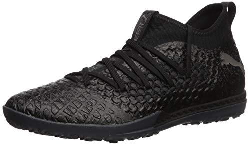 PUMA Men's FUTURE 4.3 NETFIT TT Shoe, Puma Black-Puma Black-Puma Aged Silver, 8 M US