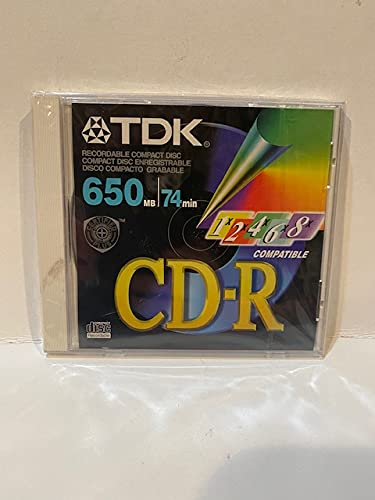 Blank TDK CD-R 650mb 74min up to 6x Recordable Compact Disc