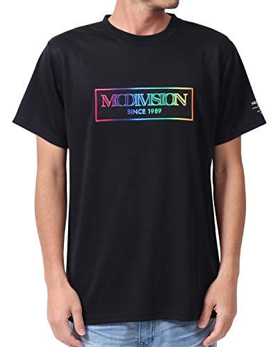 [エムシーディ] MCD Tシャツ DRY レインボー 刺繍 Tee 202M1017 ブラック L