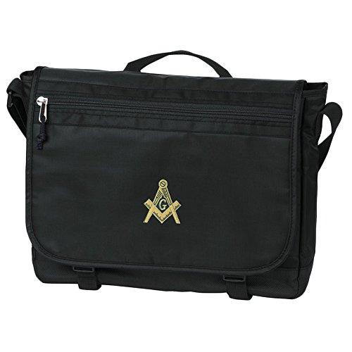 Masonic Nail-Head Messenger Bag Black
