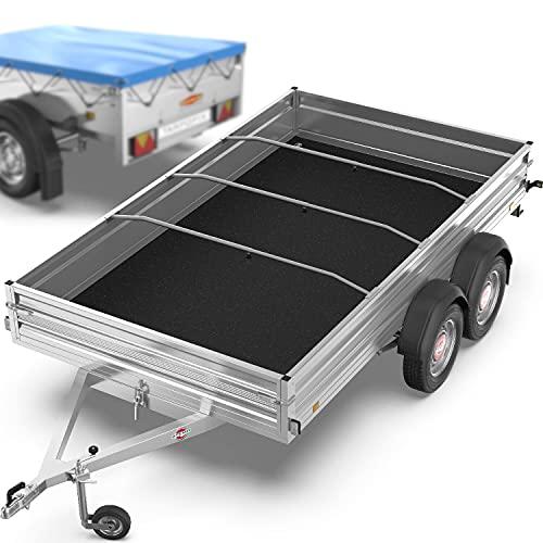 Tarpofix® Anhänger Planenbügel Flachplanenbügel (140-210 cm) - Extra große & Universell anpassbare Haltebügel (1-4er Set) für Anhängerplane - langlebige & robuste Alu Bügel Spriegel für Flachplane