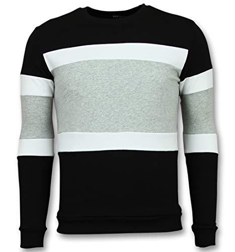 Striped Sweater Mens - Online Streep Truien Kopen - Grijs