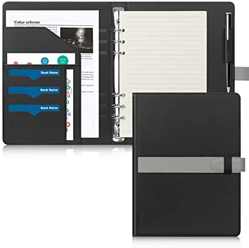 Toplive A5 Ring Binder 3 4 Inch 6 Ring Binder Refillable Premium Leather Planner Notebook Journal product image