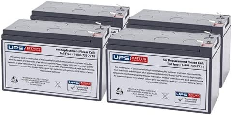 Set of 4, 12V 7.2Ah F2 Sealed Lead Acid Replacement Battery Set for Tripp Lite RBC54 by UPSBatteryCenter