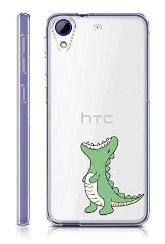 Sunrive HTC Desire 650/628 / 626 / 626G Hülle Silikon, Transparent Handyhülle Schutzhülle Etui Hülle Backcover für HTC Desire 650/628 / 626 / 626G(TPU Dinosaurier)+Gratis Universal Eingabestift