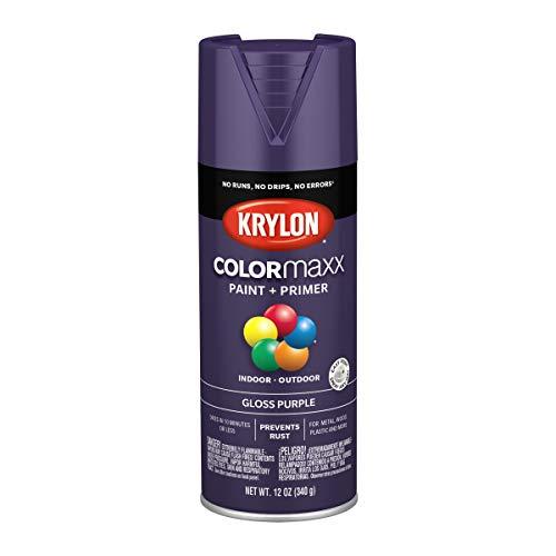 Krylon K05533007 COLORmaxx Spray Paint, Aerosol, Purple