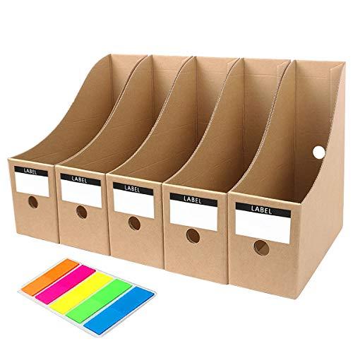 MYEUSSN Karton Zeitschriftenbox Recyceltem Archiv-Stehsammler Tric System Aktenhalter Speicherorganisator 5er Pack
