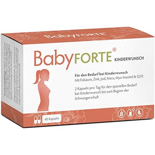 BabyFORTE Kinderwunsch Vitamine - 60 Kapseln – Vegan + JOD, Folsäure, Myo Inositol