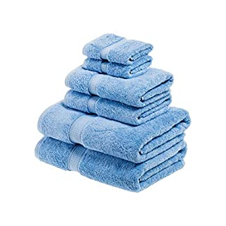 Superior 900 Gram 100% Premium Long-Staple Combed Cotton 6-Piece Towel Set, Light Blue (B005TOX57M) | Amazon price tracker / tracking, Amazon price history charts, Amazon price watches, Amazon price drop alerts