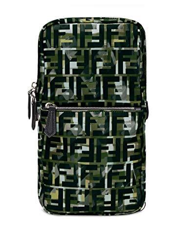 Luxury Fashion | Fendi Heren 7VZ033ABM8F0X93 Groen Polyester Rugzak | Lente-zomer 20
