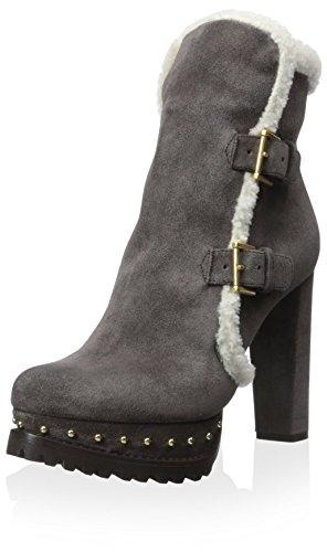 Alexander McQueen Women's Platform Boot, Grey, 40 M EU/10 M US