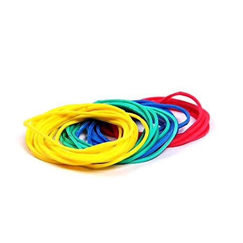 100 bandas elásticas para trenzar trucos mágicos de goma elástica multicolor Magicprop color goma accesorios