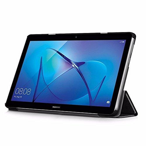 EasyAcc Hülle für Huawei Mediapad T3 10 Hülle, Ultra Schlank Schutzhülle Case mit Zwei Einstellbarem Standfunktion Für Huawei MediaPad T3 10 (9,6 Zoll), Schwarz - 3