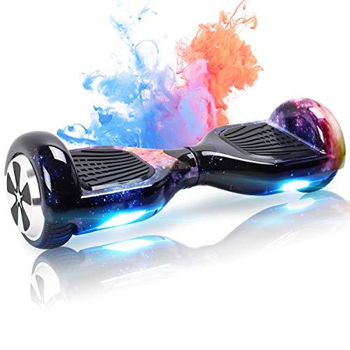 Mangoo Hoverboard 6,5 Zoll Self Balance Scooter Bluetooth Lautsprecher LED Starker Dual Motor für Kinder und Teenager