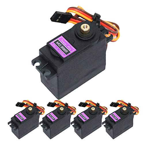 BETU 5Pack MG996R Servo Motor, Full Metal Gear Digital Servo and High Speed Torque Servo Motor for RC Car/Robot/Boat/Helicopter (180°)