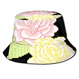 zhouyongz Summer and Winter Outdoor Hunting and Fishing Picnic Sun Cap, Neutral Barrel Cover,Digital Red and Yellow Flowers