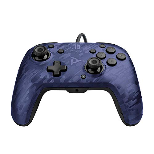PDP - Mando Pro Deluxe Faceoff Chat Audio Camo Azul (Nintendo Switch)