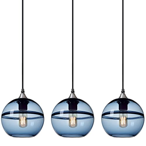 Handblown Glass Drop Hanging Light