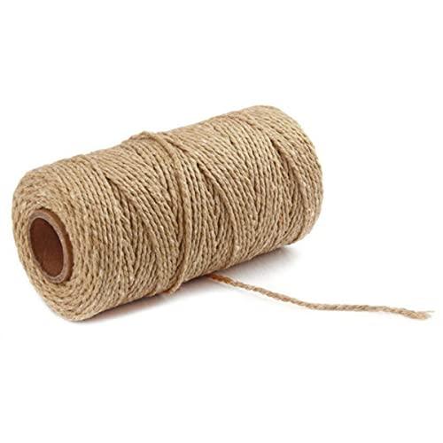 100 Yardas 100% algodón Puro Cuerda Trenzada Cuerda artesanías macramé Artesanal Cuerda Panadero Cuerda Multicolor algodón Lino Cuerda Textiles para el hogar-Bronceado