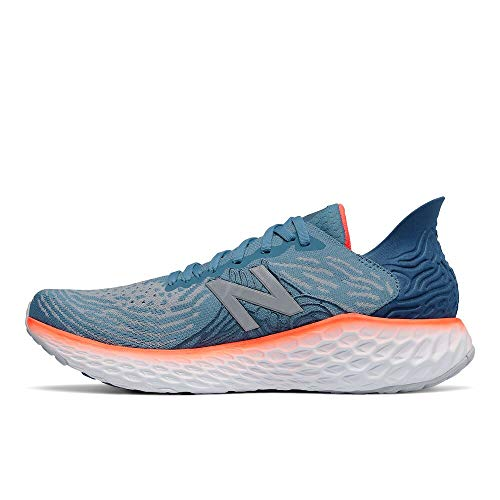 New Balance Men's Fresh Foam 1080 V10 Running Shoe, Nb Light Blue/Dynomite, 10.5