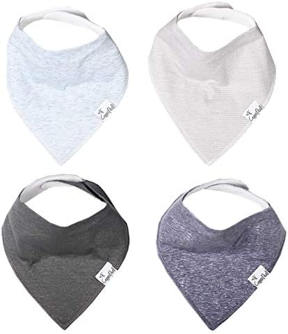 Baby Bandana Drool Bibs for Drooling and Teething 4 Pack Gift Set Lennon by Copper Pearl product image