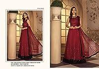 Red Muslim 女性 Party Wear Abaya Style Anarkali Frock Georgette Suit Eid Special Long Dress 5919