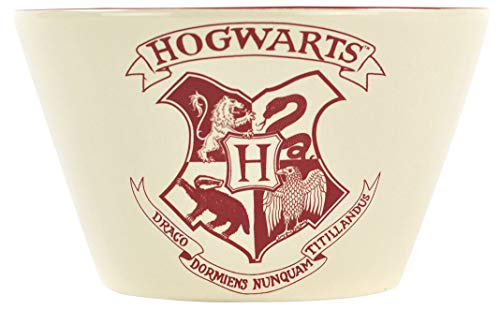 Half Moon Bay Tazón de cereales con el Escudo Hogwarts de Harry Potter