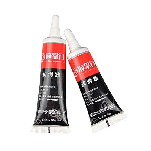 primrosely Angelrolle Öl und Fett, Schmieröl Fett Set Angelrolle Wartungswerkzeug Kit