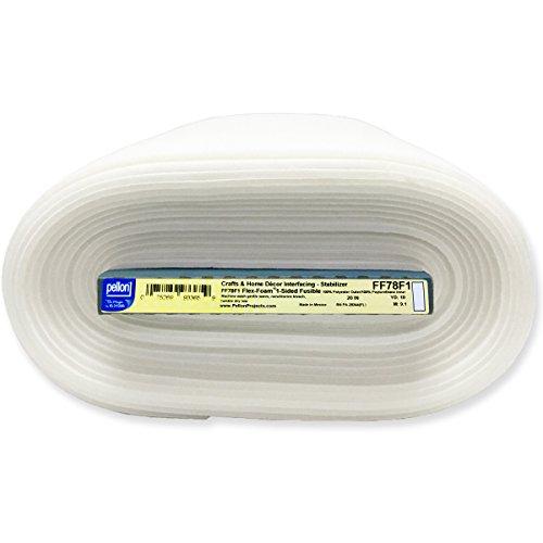 Pellon FF78F1 10yd Flex 1-Sided Fusible Foam Stabilizer 20' x 10 yds