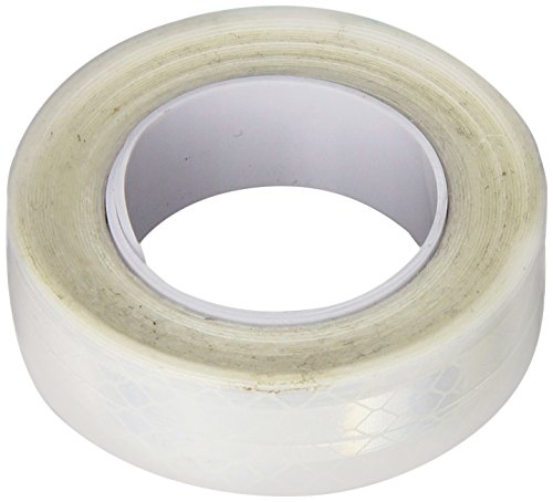 3M 3430 White Micro Prismatic Sheeting Reflective Tape - 0.25 in. X 15 ft. Non Metalized Adhesive Tape Roll. Safety Tape