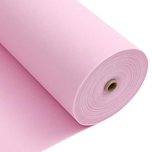 LONGING HOME Tischdeckenrolle, 1.2 × 25M, Pink, Einweg Vlies Stoffähnlich Tischdecke Rolle, Meterware Tischtuchrolle, Geeignet Für Geburtstag, Party, Deko